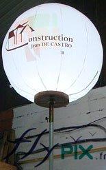 Ballon lumineux avec mat