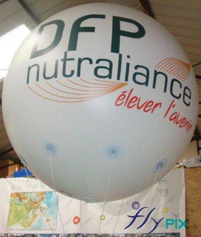 Ballon publicitaire sphérique avec marquage personnalisé d'un logo