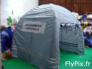Tente gonflable corps d'état: gendarmerie, police, armée, pompiers, secours.