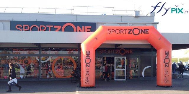 Arche gonflable publicitaire SportZone