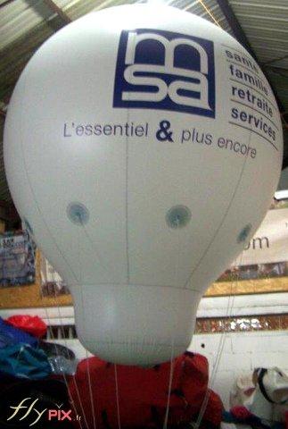 Ballon montgolfière avec marquage logo personnalisé