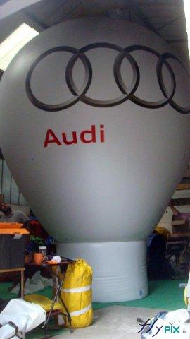 Montgolfière avec marquage de logo en couleur