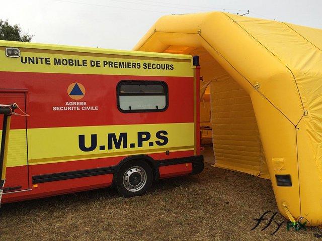 Tente gonflable PMA pour premiers secours