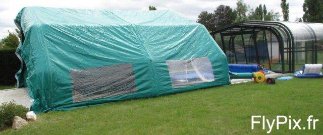 Hangar gonflable piscine pour les particuliers et pour les professionnels.