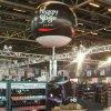 Ballon publicitaire sphérique sur mat télescopique en aluminium