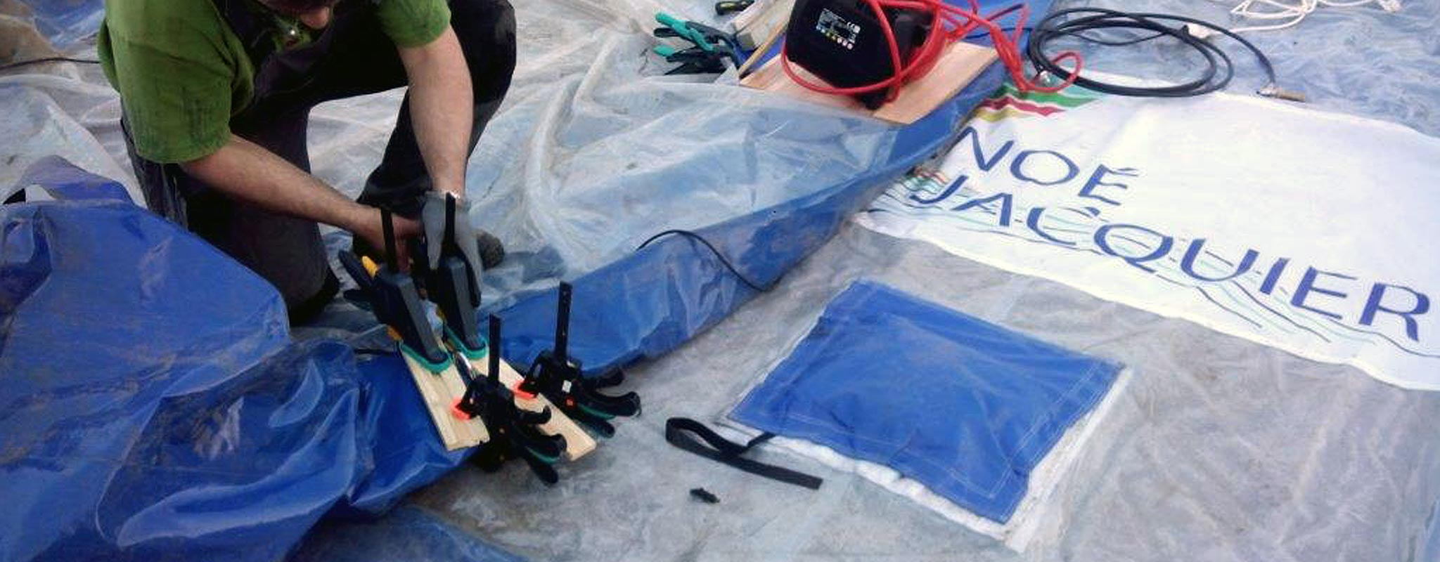 SAV, réparation, entretien de structures gonflables.