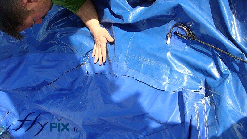 Réparation, SAV, entretien de gonflables publicitaires.