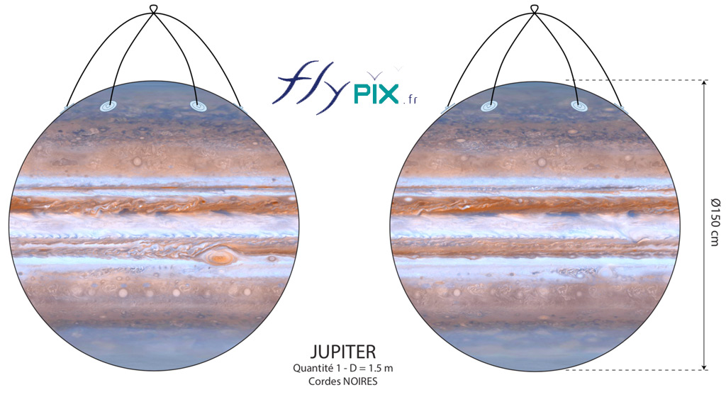 BAT ballon JUPITER full print